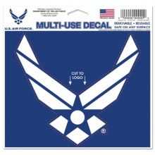 """United States Air Force Multi-Use Decal 5"""" X 6"""" Cut To Logo"""