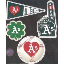 Oakland Athletics 4 Piece Magnet Set
