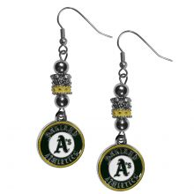Oakland Athletics Euro Bead Earrings