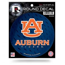 "Auburn Tigers 4"" Round Vinyl Decal"