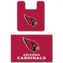 Arizona Cardinals Two (2) Piece Bathroom Rug Set