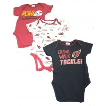 Arizona Cardinals 2018 3 Piece Bodysuit Set 6-12 Months