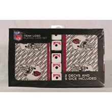 Arizona Cardinals 2 Packs of Playing Cards with Dice