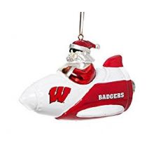 Wisconsin Badgers Santa on a Rocket