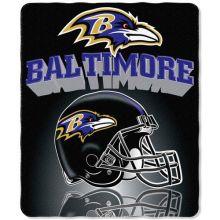 """Baltimore Ravens 50"""" x 60"""" Gridiron Fleece Throw Blanket"""