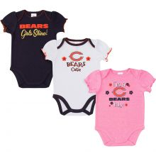 Chicago Bears 2018 Girls 3 pk. Bodysuits 0-3 Months