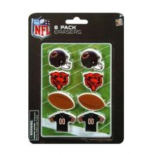 Chicago Bears Team Color 8 Pack of Erasers