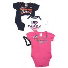 Chicago Bears 2017 Girls 3 Piece  Bodysuit Set 3 Mo.