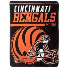 "Cincinnati Bengals 40 Yard Dash 46"" x 60"" Super Plush Throw"