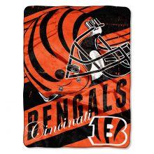 "Cincinnati Bengals  46"" x 60"" Deep Slant Super Plush Throw Blanket"