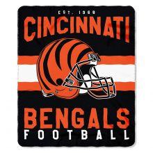 """Cincinnati Bengals 50"""" x 60"""" Singular Fleece Throw Blanket"""