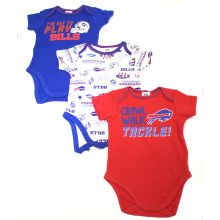 Buffalo Bills 2018 3 Piece Bodysuit Set 6-12 Months