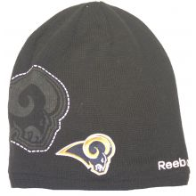 Los Angeles Rams Embroidered Long Fleeced Lined Beanie Hat Cap Lid YOUTH SIZE