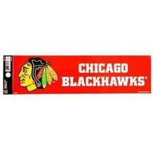 """Chicago Blackhawks 3.5"""" X 10.5"""" Bumper Sticker"""