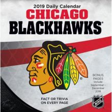 Chicago Blackhawks 2019 Boxed Desk Calendar