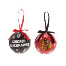 Blackhawks LED Ball Ornaments Set of 2
