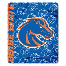 Boise State Broncos Side Bar Fleece Throw Blanket
