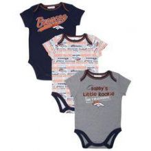 Denver Broncos 2014 Boys 3 Piece Bodysuit Set (18 Mo.)