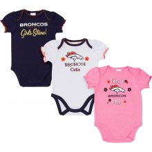 Denver Broncos 2018 Girls 3 pk. Bodysuits 0-3 Months