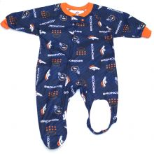 Denver Broncos 2018 Infant Footed Blanket Sleeper
