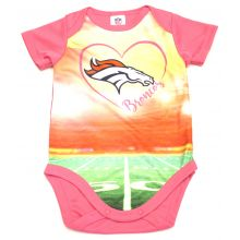 Denver Broncos  Girls Infant Field Bodysuit 0-3 Months