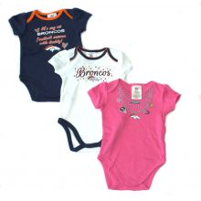 Denver Broncos 2015 Girls 3 Piece Bodysuit Set (18 Mo.)