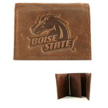 Boise State Broncos Brown Leather Wallet