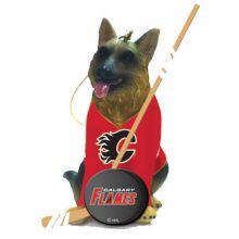 Calgary Flames Shepherd Team Dog Ornament