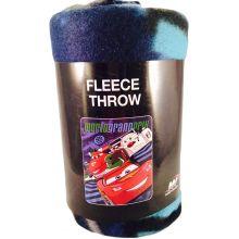 "Disney Pixar Cars ""World Grand Prix"" Fleece Throw 40""x50"""