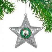 """Boston Celtics 4"""" Silver Star Ornament"""