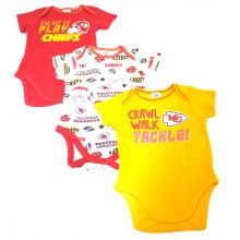 Kansas City Chiefs 3 Piece Bodysuit Set 6-12 Months