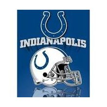 "Indianapolis Colts 50"" x 60"" Gridiron Fleece Throw Blanket"