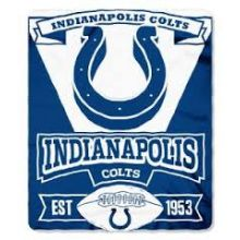 "Indianapolis Colts 50"" x 60"" Marque Fleece Throw Blanket"
