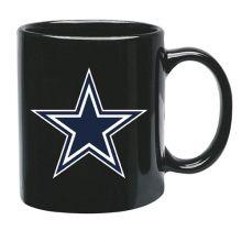 Dallas Cowboys 15 oz Black Ceramic Coffee Cup