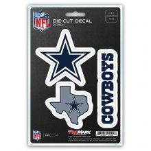 Dallas Cowboys 3 Pack Die Cut Decals