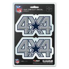Dallas Cowboys 4 x 4 Die Cut Decal 2 pk.