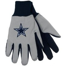 Dallas Cowboys Gray with Black Palm Utility Gloves