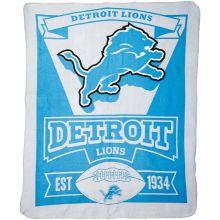 """Detroit Lions 50"""" x 60"""" Marque Fleece Throw Blanket"""