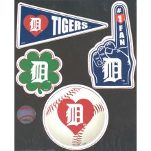 Detroit Tigers 4 Piece Magnet Set