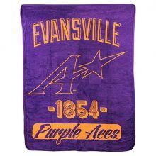 Evansville Purple Aces Super Plush Fleece Throw
