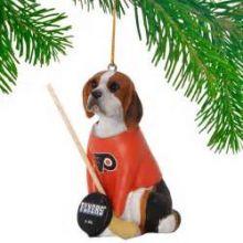 Philadelphia Flyers Beagle Team Dog Ornament