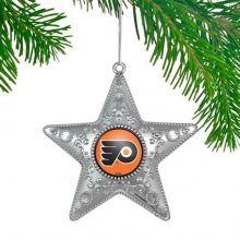 "Philadelphia Flyers 4"" Silver Star Ornament"