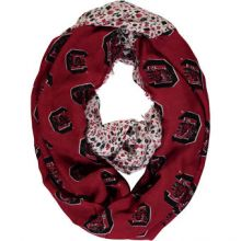 NCAA South Carolina Gamecocks Floral Infinity Scarf