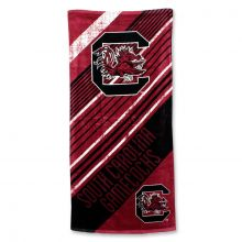 """South Carolina Gamecocks 28"""" x 58"""" Striped Logo  Beach Towel"""
