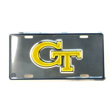 Georgia Tech Yellow Jackets Embossed Aluminum Car Tag License Plate