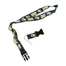 NCAA Georgia Tech Yellow Jackets Double Sided Team Color Breakaway Lanyard Key Chain