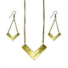 Iowa Hawkeyes Chevron Necklace and Earrings Set