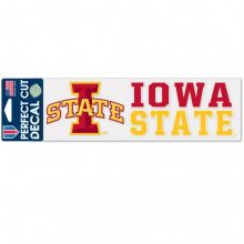 "Iowa State Cyclones 3"" X 10"" Perfect Cut Color Decal"
