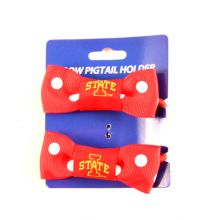 Iowa State Cyclones Bow Pigtail Holders
