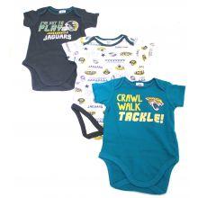 Jacksonville Jaguars 3 Piece Bodysuit Set 6-12 Months